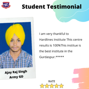 COACHING for army gd IN Gurdaspur